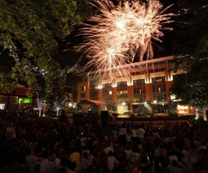 Hanging out on the green space in CITYCENTRE for the 4th of July/Photo courtesy of CITYCENTRE.