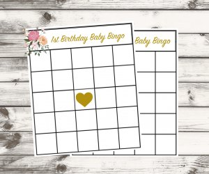 First Birthday Party Ideas for Quarantine Babies: Play Baby Bingo