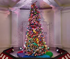 Visit the origami tree at AMNH on Christmas Eve