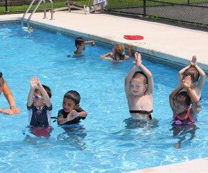 At Apple Montessori Schools there are daily swim lessons with Red Cross certified instructors.