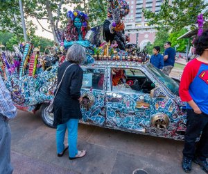 See art and automobiles come together into a unique collaboration at the annual Art Car Parade./Photo courtesy of Jared Jarvis.