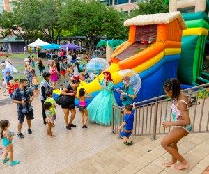 Make a splash before school starts at this back-to-school splash bash. Photo courtesy of Sugar Land Town Square.