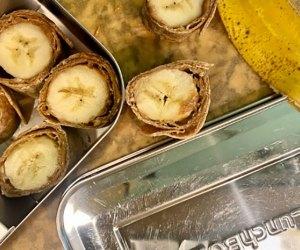 100 School Lunch Ideas for Kids: Banana roll-ups