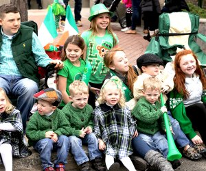 Kids get in on the action at the Bergen County St Patrick's Day Parade. Photo courtesy of the All Aboard Meeting Group