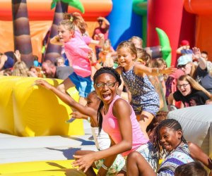 Jump on the biggest inflatable your kids will ever see. Photo courtesy of Big Bounce America