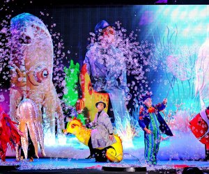 Go on an underwater adventure at the Underwater Bubble Show. Photo courtesy of the show