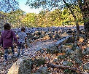 kids playing in ringing rock park