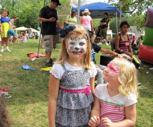 Face painting, pony rides, touch-a-truck, a climbing wall, and more at the Burke Centre Festival. Photo courtesy of the festival