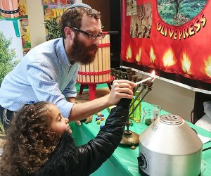 The Chai Center celebrates Hanukakh  with arts, crafts, games,  and more. Photo courtesy of the Chai Center
