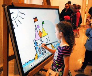 Celebrate creativity at the Heckscher Museum's Draw In! Winterfest. Photo courtesy of the Heckscher Museum of Art