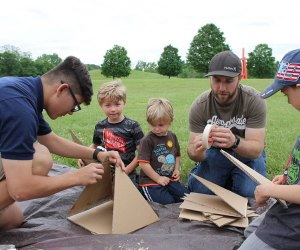 Work on a nature-related project as a family at Storm King on Sunday. Photo courtesy of Storm King