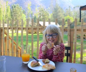 Huttopia Paradise Springs: Discover the Best New Glamping near Los Angeles: breakfast on the deck