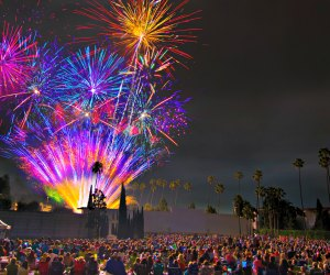 Cinespia Fireworks at the Hollywood Forever Cemetery. Photo by Kelly Lee Barrett