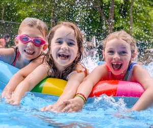 <i>Deer Mountain Day campers have a blast with swimming, sports, arts and outdoor adventure activities.</i>