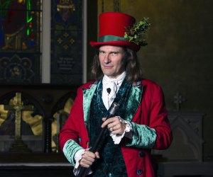 """Storyteller Jonathan Kruk in Dickens' """"Christmas Carol"""" courtesy of the venue."""