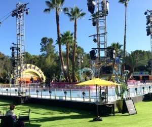 The DiscOasis at South Coast Botanic Garden: the skating stage