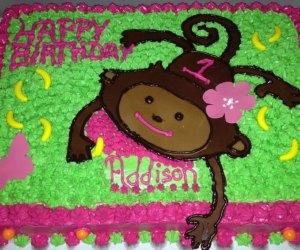 DJ's Bakery monkey cake