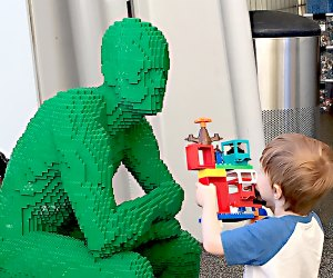 See the new exhibit The Art of the Brick at the New York Hall of Science. Photo by Drew Kristofik