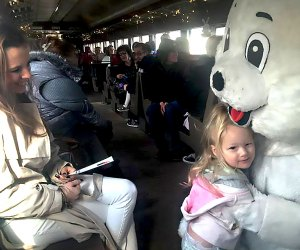It's all about bunny love on the Easter Bunny Train. Photo courtesy of the Catskill Mountain Railway