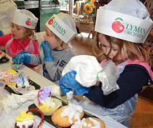 Kids get to decorate their own Easter sweets! Photo courtesy of Lyman Orchards