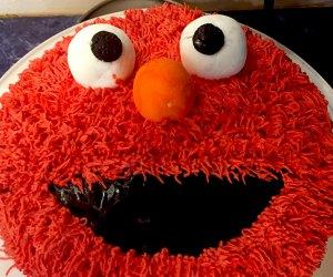 Birthday Cake Ideas for a Kids' Birthday Party: Elmo cake!