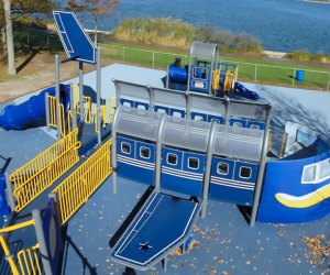 Ed Brown Playground has a transportation theme