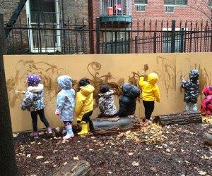 Elements Preschool has a beautiful backyard for its nature preschool