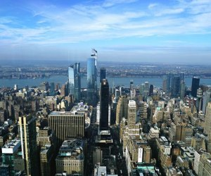 View looking west from The Empire State Building one of our favorite NYC tourist attractions
