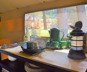 Huttopia Paradise Springs: Discover the Best New Glamping near Los Angeles: tent kitchens