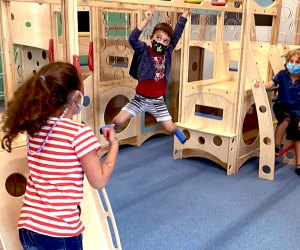 Conquer the monkey bars at Exceptional Explorers on the next rainy day in New Jersey