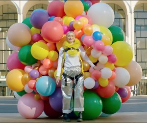 A balloon installation hits Lincoln Center. Photo courtesy of New York City Ballet