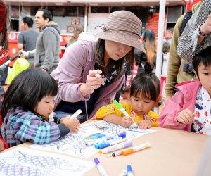 Families enjoying a workshop at Fiesta Matsuri. Photo by Scott Oshima courtesy of Japanese American Cultural & Community Center