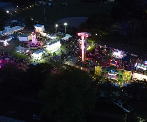 Aerial view of the Fire Department Carnical in Mamaroneck