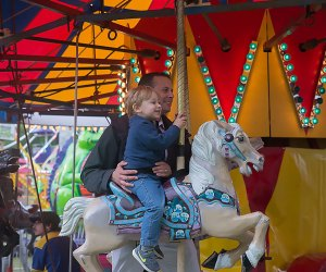 The Fol-de-Rol County Fair features plenty of little kid–friendly rides. Courtesy  of the Armonk Lions Club