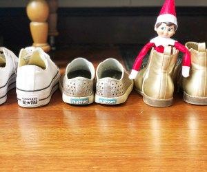 Elf on the shelf loves hiding in stinky kid sneakers