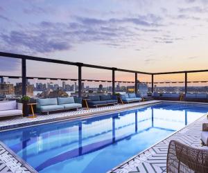 Gansevoort Hotel's rooftop pool is a family-friendly hotel perk