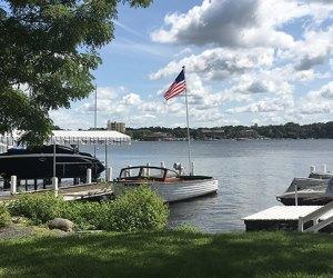 xploring the Shore Path of Lake Geneva: Boats dot the lake in the summer