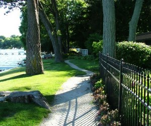 xploring the Shore Path of Lake Geneva: Parts of the path are great for strollers