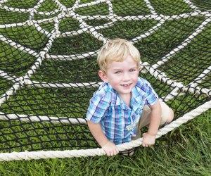 Play in the spider web at Garden of Eden