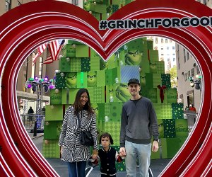 Snap a family photo in Grinch for Good in Rockefeller Center. Photo by Janet Bloom