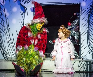 The Grinch will be in town from November 28 through December 9. Photo courtesy of the Boch Center