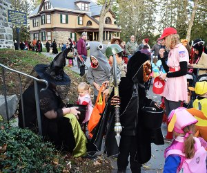 Trick-or-treating at the historic houses on Historic Huguenot Street is a New Paltz tradition. Photo courtesy of Historic Huguenot Street