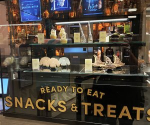 Desserts in a case at Harry Potter New York
