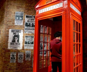 Phone booth at Harry Potter New York