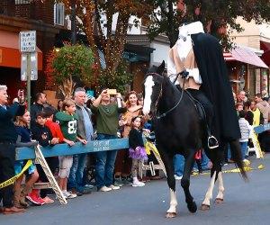 The Headless Horseman Halloween Parade in Tarrytown