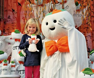 Kids can meet Otto the Ghost at Hicks Nurseries this fall. Photo courtesy of the nurseries