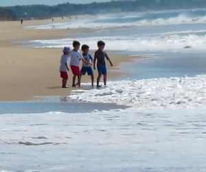 Kids on beach at HIther Hills State Park