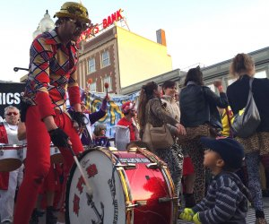 Kids are invited to bang a drum at HONK! Photo courtesy of Eric Haines via Flickr/cc by 2.0