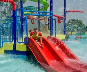 Even little ones can enjoy the slides at Strawberry Water Park. Photo by Ashley Jones