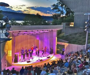 Enjoy breathtaking views with your music at  the Hudson River Museum's Arts in the Amphitheater: Music Nights. Photo courtesy of the venue